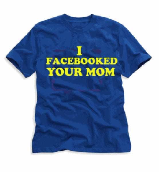 """Фланелка с надпис """"Фейсбукнах твоята мама"""""""