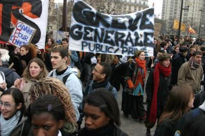 Младежта на Франция протестира
