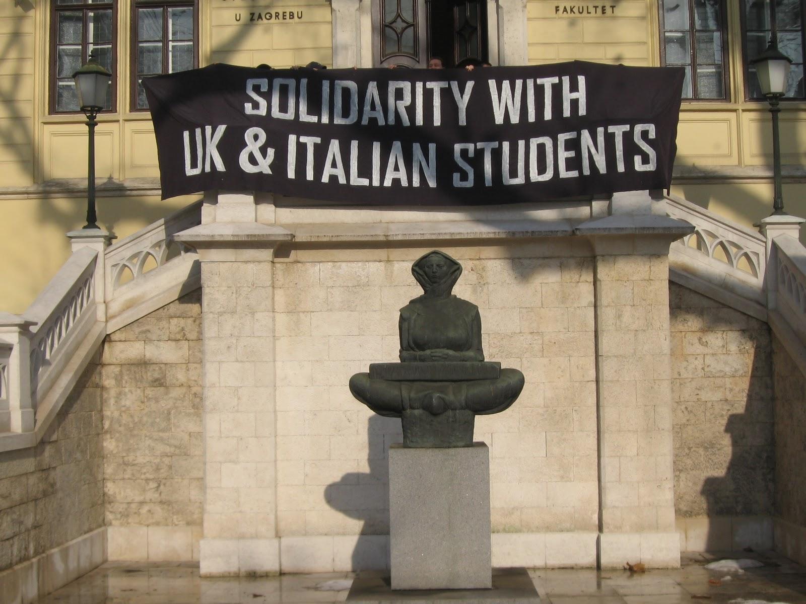 Хърватска: Солидарност с Британските и Италианските студенти