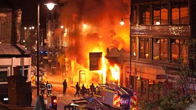 Лондон в пламъци