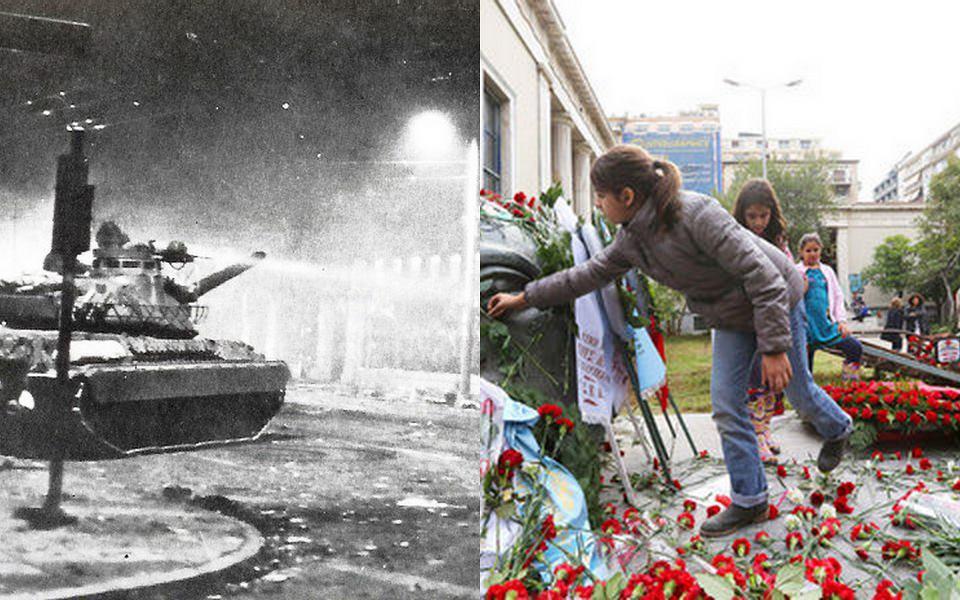 Антифашистки мото-патрул в Атина в навечерието на 17 ноември
