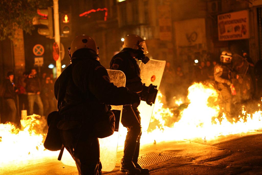 Протестите в Гърция в памет на Алексис Григорополус