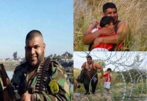"""Снимка на бежанец вдясно, който """"твърде много"""" прилича на терориста вляво."""
