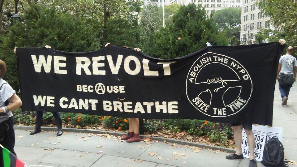 Кметството в Ню Йорк е окупирано от протестиращи, искащи разпускане на полицията.