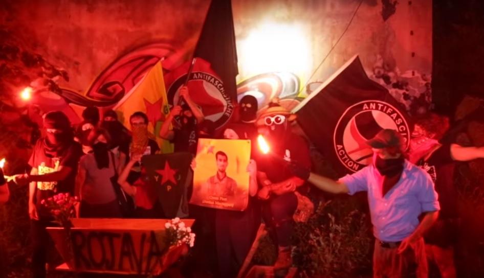 САЩ: почит за анархиста и боец от YPG Джордан Мактагърт
