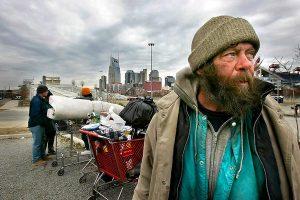 Бездомници в Чикаго в началото на 21 век.