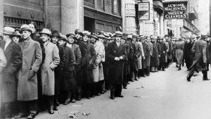 Опашка от безработни в началото на 20 век.