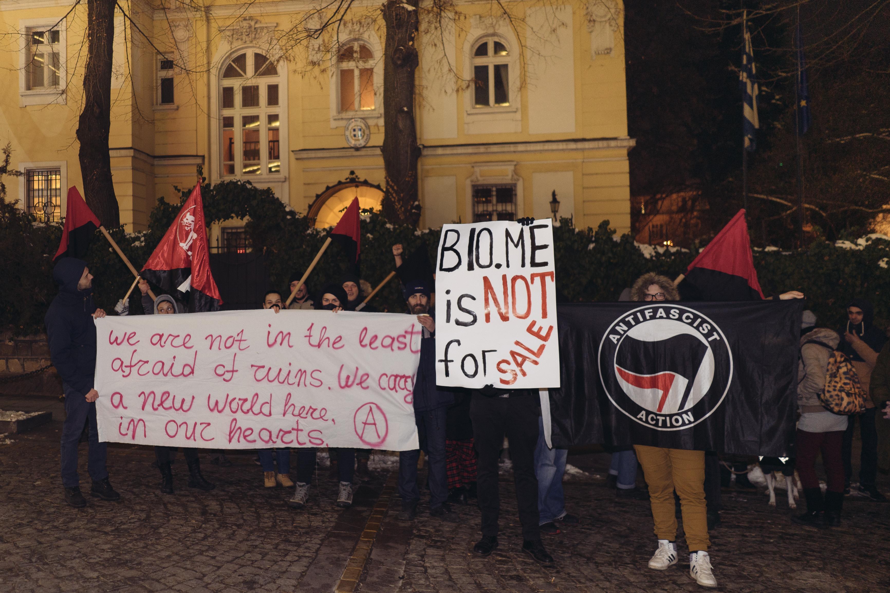 Протест в солидарност с гръцките работници и арестувани анархисти!