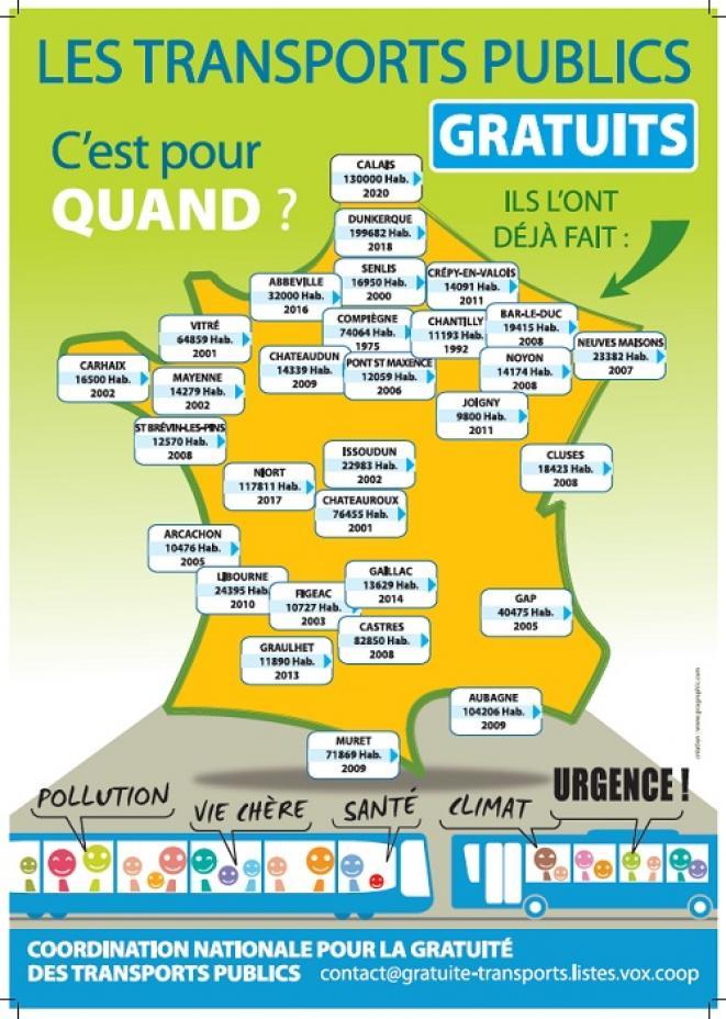 Франция: Национален призив за Безплатен Обществен Транспорт