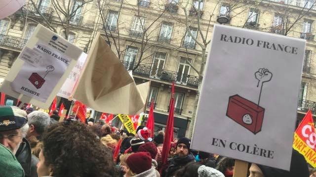 Историческа стачка в Радио Франс